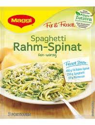 Maggi fix Spaghetti Rahm Spinat