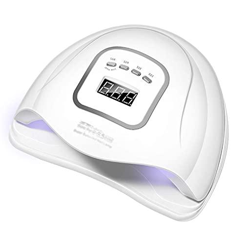 120 W Nagellamp, 45 Leds Nageldroger Voor Gel Polish Gel Lamp Met 4 Timer Instelling Sensor Cd Display 99 Caloriearme Pijnloze Modus Nagelkunst Gereedschap Thuis