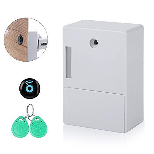 Cabinet Lock Batteria Rfid Nascosto Cassetto Locker Lock Senza Diy Senza Foro Perforato Scheda Ic Keyless Digitale Smart Lock Nascosto Serratura Invisibile Fai Da Te Senza Foro Forato