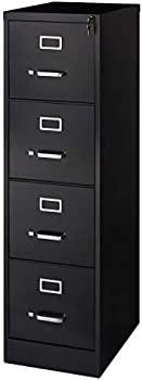 Realspace 22 Inch D Vertical Metal 4-Drawer File Cabinet
