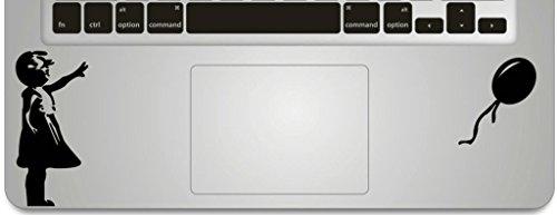 Vati Vinilo adhesivo de vinilo con diseño de hojas extraíbles, hecho a mano, diseño de globo volando lejos para el trackpad teclado de Apple Macbook Pro Air Mac Laptop