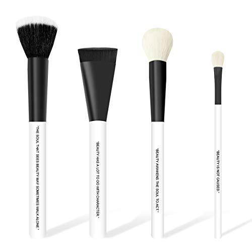 of powder brushes dec 2021 theres one clear winner FABHUE Goat Hair Basic Makeup Brushes Professional Cosmetic Brushes Makeup Brush Set With Case, Foundation Blending Blush Concealer Eyeshadow Flawless Powder