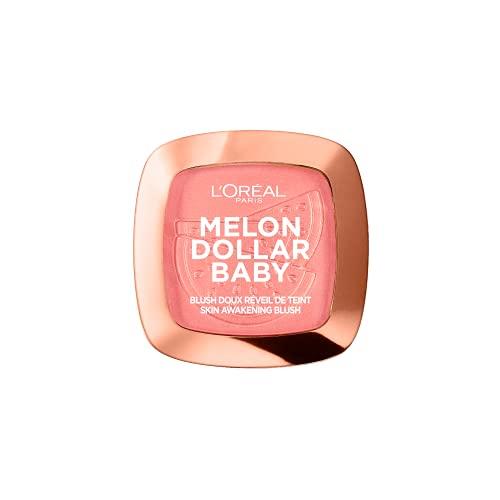 L Oréal Paris Wake Up & Glow Melon Dollar Baby, Colorete, Tono Rosado