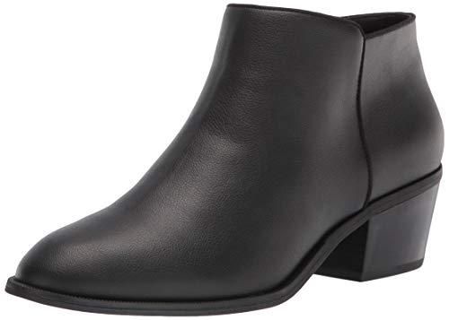 Amazon Essentials Women's Microsuede Ankle Boot, Black, 8 B US