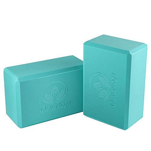 Yoga Blocks 2 Pack – 2 High Density Light Weight Exercise Blocks 4 x 6 x 9 Inches Support All Yoga Poses