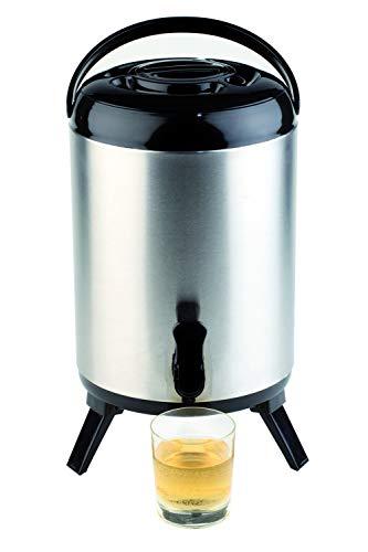 APS Iso-Dispenser – Hochwertiger Isolierbehälter für heiße und kalte Getränke aus rostfreiem Edelstahl – 24cm x 42cm mit 9,5 Liter Fassungsvermögen