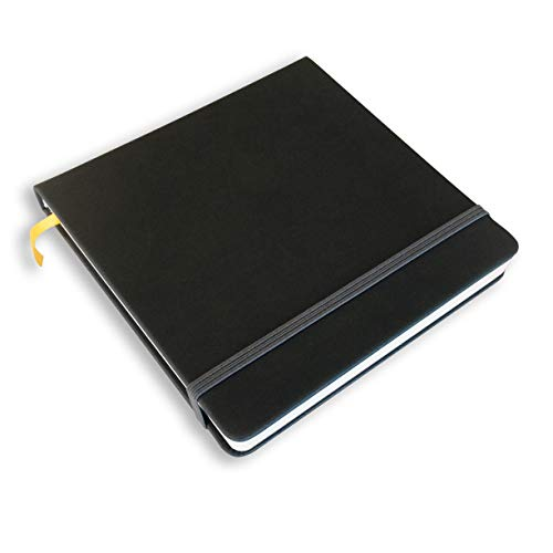 Field Artist 6.5 in. x 6.5 in. Square Watercolor Journal, Hardbound with 80 pgs. 200 GSM, Cold Press Paper