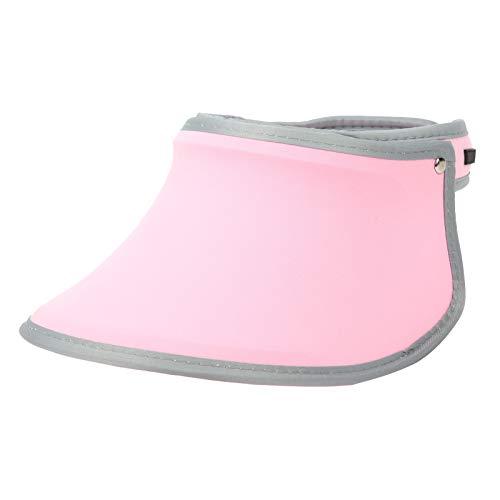 Keenso Sonnenblendenhut Stirnbandkappe Elastischer Strickstoff Atmungsaktiver Golf Sonnenhut 360 ° drehbar Einstellbarer UV-Schutz(Hell-Pink)