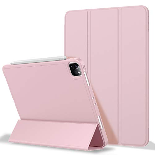 iPad Pro 11 Case 2020 with Pencil Holder (2nd Generation), ZryXal Premium Protective Case Cover with Soft TPU Back and Auto Sleep/Wake Feature for 2020/2018 iPad Pro 11 (Pink)