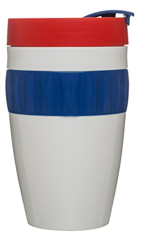 Sagaform 5017157 été Take Away Mug, Blanc/Bleu/Rouge