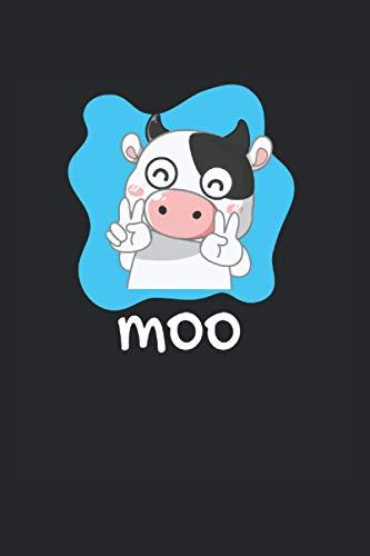 Moo | Kuh Motiv Inspirierende Notizen: Notizbuch A5 120 Seiten liniert