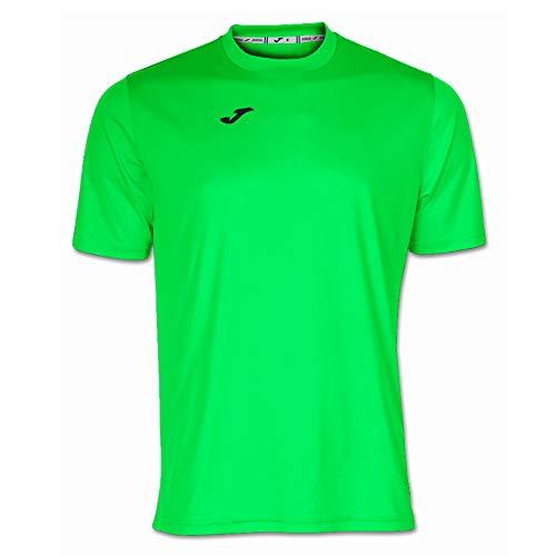 Joma 100052.020 - Camiseta de equipación de Manga Corta para Hombre, Color Verde flúor, Talla M