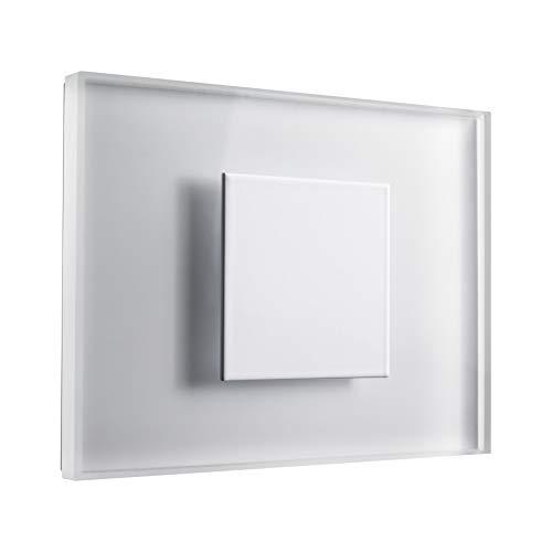 Set d'éclairage d'escalier SunLED - Médium - Blanc froid 230 V 1 W - Applique murale en verre véritable - Avec boîtier encastré, Alu: Weiß, 1 Stk.