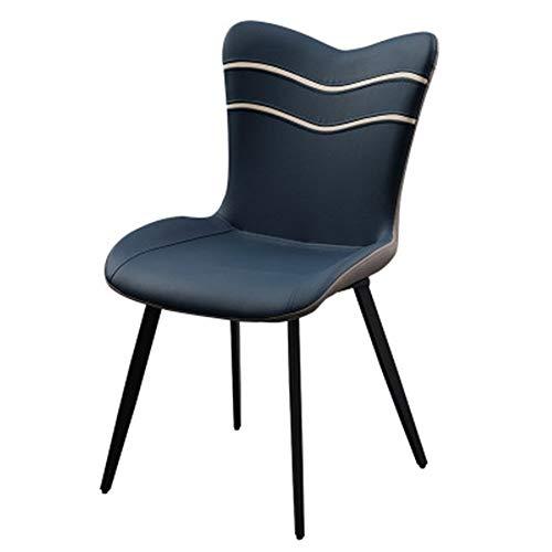 DorisAA Silla de comedor con respaldo simple de hierro forjado para sala de estar y comedor multiusos (color: uno, tamaño: S)