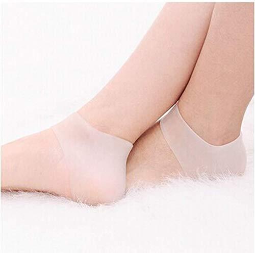 Fliyeong Silikon Anti-Cracking Socken Fersenschutz Socken Fersenpolster Fußsocken