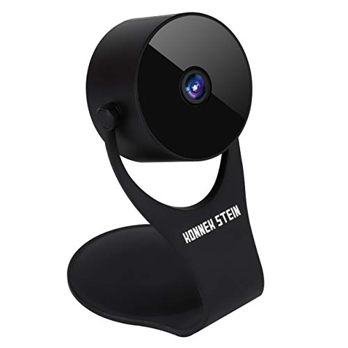 Konnek Stein Security Camera 1080p HD Indoor Wireless Smart Home Camera Detection with Night Vision 2-Way Audio Compatible with Alexa Assistant Black