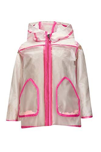 Killtec Regenjacke Mädchen Mini Raincoat - Funktionsjacke mit Kapuze - Outdoorjacke Kinder, pink, 86/92