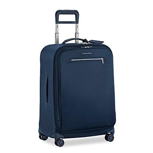 Great Features Of Briggs & Riley Rhapsody-Softside Spinner Luggage, Navy, Checked-Medium 25-Inch