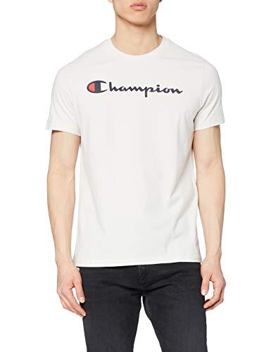Champion Homme - T-shirt Classic Logo - Crème, S