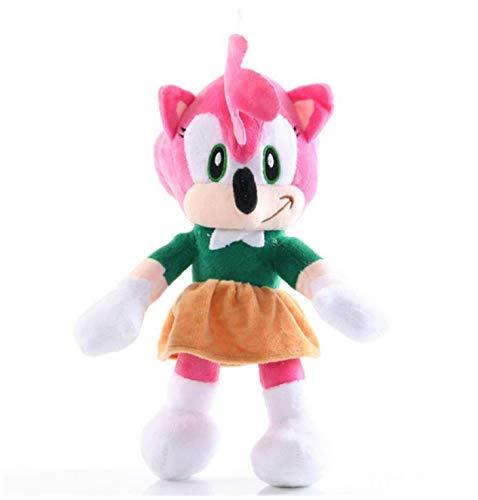 bamzok Sonic Figures Peluche Sonic Shadow Hedgehog Doll Regalos Navideños para Niños 28Cm