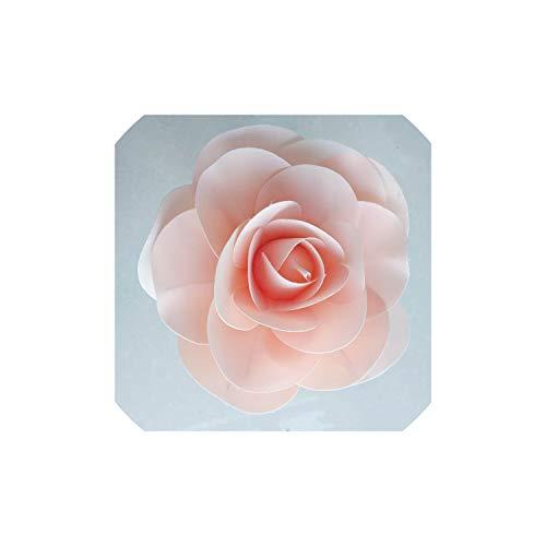 Archiba Wedding Decor Große Schaum Fake Flowers Artificial Roses Set europäischen Stil Hochzeit Blumen-Wand-Weihnachtskarten Hintergrund-Layout, Hellrosa, 30Cm
