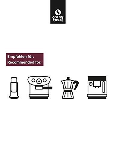 Coffee Circle | Premium Espresso Yirga Santos | 350g ganze Bohne | Vollmundiger Espresso mit Schokoladenaromen | Arabica und Robusta | fair & direkt gehandelt | frisch & schonend geröstet - 6