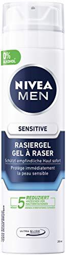 NIVEA MEN Sensitive Rasiergel im 6er Pack (6 x 200 ml), Rasiergel für eine glatte und sanfte Rasur, schonendes Rasiergel für Herren