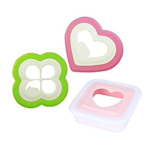 Hemoton 3 Stücke Sandwich Cutter Cartoon Nette Sandwich Maker Kuchen Cutter Form Diy Backwerkzeug für Kinder