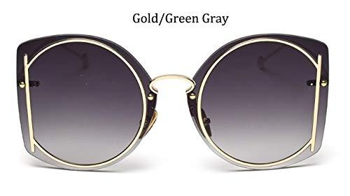 HPLDEHA Estilo Gafas de Sol Gafas de Moda Femenina Mujer sin rebordes 2020 de la Vendimia Gafas de Sol de Gran tamaño Marca Tendencia gradiente de la Lente de Las Mujeres Paquete