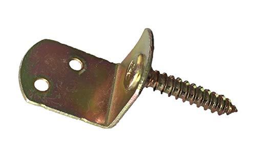 Flechtzaunhalter Flechtzaunbeschlag in L-Form - 20 Stück (Stahl verzinkt)