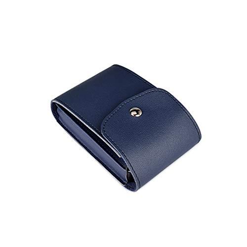 Aufbewahrungstasche, Headset, Maus, Datenkabel, mobiler Strom, digitaler Zubehörschutztasche, U-Festplattenspielkonsole-Ladegerät Aufbewahrungsbox, wasserdichte Lede Royal blue-14 * 5 * 8.5cm