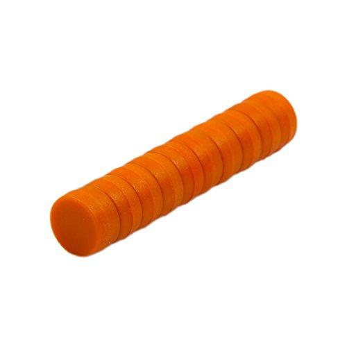 Magnetastico®   10 x sterke neodymium magneten met beschermlaag   oranje & afmetingen 12 x 6 mm   sterke supermagneten, kantoormagneten   mini-magneten voor magneetbord, koelkast, whiteboard & glazen magneetbord