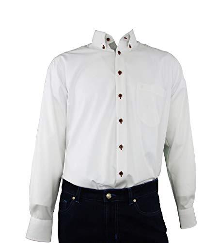 DIGEL Winter-Set Hemd Gerald-B in Weiß, Chambray, Größe: 42