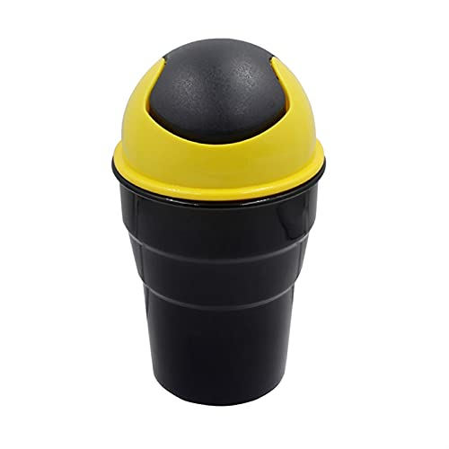 yqs Cubo de Basura para Coche Caja de Basura Caja de Basura Amarillo/Verde/Azul/Rojo Basura de Basura de Basura Papelera de Basura (Color Name : Yellow)