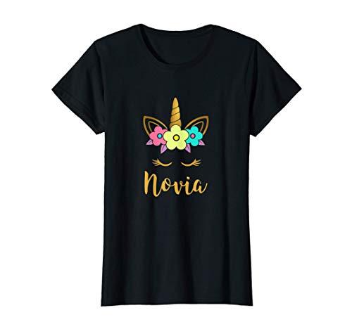Mujer Unicornio Novia Camiseta