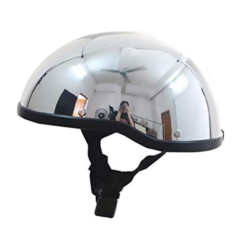 DJCALA Open Face Jet-Helm Moto Halbschale Scooter-Helm Halber Helmets Brain-Cap Motorrad-Helm Roller-Helm Bobber Mofa-Helm Chopper Retro Cruiser Vintage Pilot