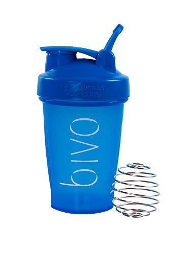 BIVO 3.0 Coctelera 590 Ml, Vidrio Sólido y Resistente para Proteínas Producido en Libre de Bpa, Ideal para Alimentos y Bebidas, Incluye Gancho Lateral y Bola Mezcladora