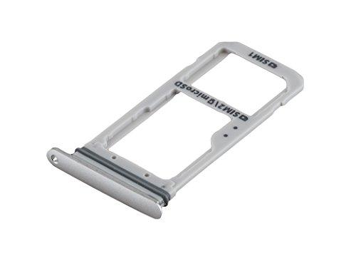 ICONIGON Reemplazo para Galaxy S7 Edge Dual (SM-G935FD) SIM e Micro-SD Card Tarjetas Soporte (Plata)