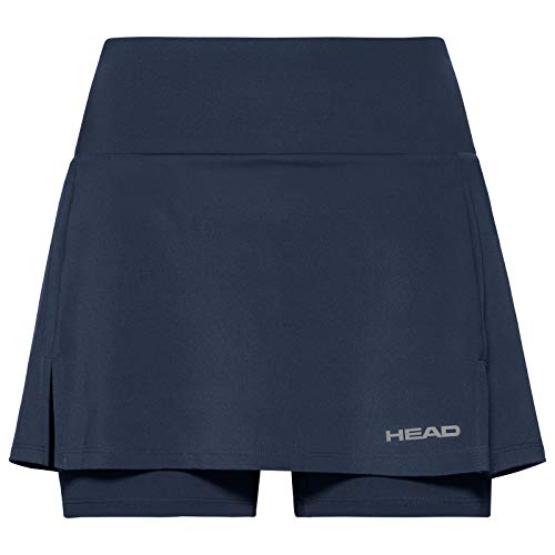 HEAD Damen Skirts Club Basic Skort W, 814399dblge, Darkblue