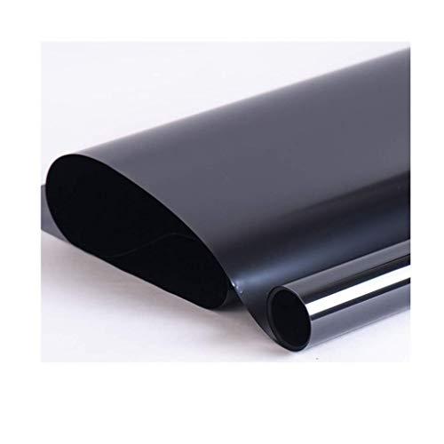 ZXL folie voor ramen, isolatiefolie, van zwart glas, zonwering voor thuis, balkon, slaapkamer, afsluitmat, isolatieratio, 75% 150 x 150 cm (maat: 1