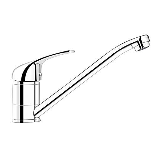 COSTWAY Waschtischarmatur Einhebelmischer Spültischarmatur Einhandmischer Armatur Küchenarmatur Wasserhahn, für Bad Küche, verchromt