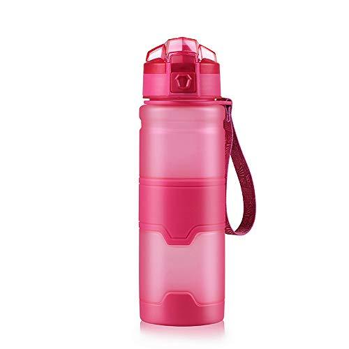 Sport-Trinkflasche, 500 ml, Polypropylen, tragbar, für Radfahren, Radfahren, Camping, Wandern, Höhlen, Reisen, Schwarz/Grün/Orange/Blau/Pink
