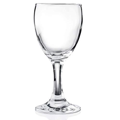 Gastro Spirit - 12-er Set Weißwein-Gläser - 0,19 Liter, robust, spülmaschinenfest, Gastronomie-Qualität - 6 Verschiedene Setgrößen erhältlich (6, 12, 18, 24, 30, 36 STK.), Serie Adalia