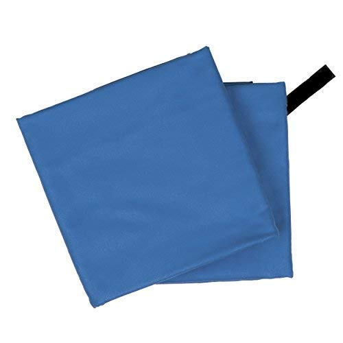 CampAir Conjunto de 2 Toalla de Microfibra con Bolsa de Malla, L 60x 120cm, Azul