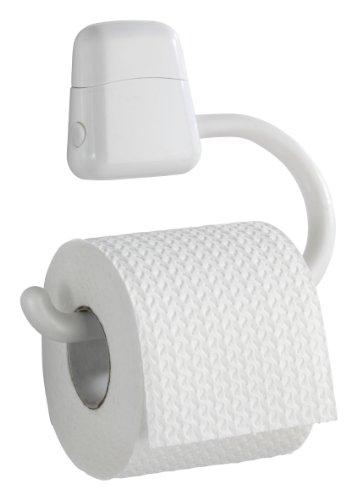 WENKO 19901100 Toilettenpapierhalter Pure, Acrylnitril-Butadien-Styrol (ABS), 17.5 x 15.5 x 3 cm, Weiß