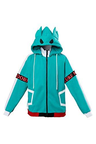 NoveltyBoy My Hero Academia Izuku Midoriya Hoodies Bakugou Katsuki Shoto Thick Velvet Sweatshirt Jacket Cosplay Costume Green