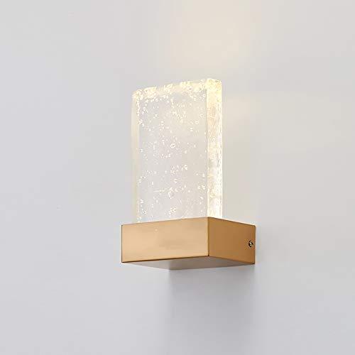 LXSEHN Moderne Américain Mousse Verre Métal Applique, Designer Créatif Chevet Salon Un Hôtel Rayon Couloir Applique Illumination lampes lanternes