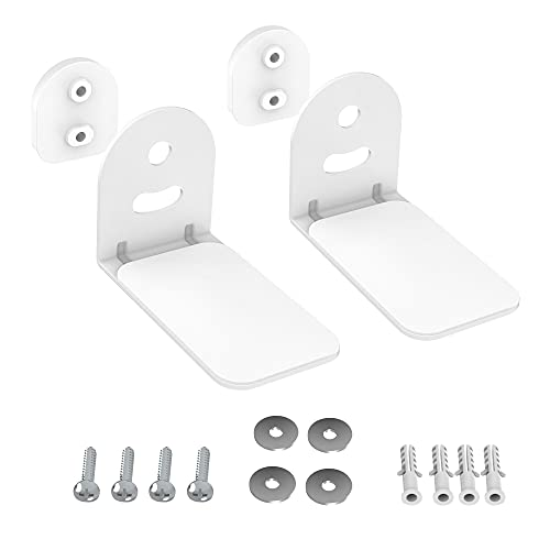 SPORTLINK Soundbar Wall Bracket Mount - Universal No-Slip Metal Sound Bar Shelf Mounting Stand Holder Compatible with LG/ Bose/ Sonos Beam/ Samsung/ JBL/ Sony Soundbars - White
