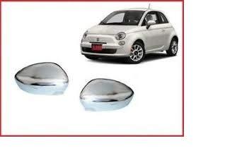 AV RICAMBI Paar Spiegelkappen Chrom glänzend rechts und links für 500 ab 2007
