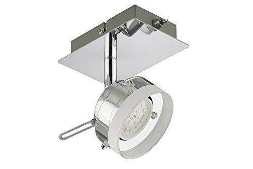 Briloner Leuchten 2807-018 Applique LED, plafonnier, Spots, Lampe Salon d'enfant ou Chambre a Coucher, orientable, Métal, 5 W, Chrome